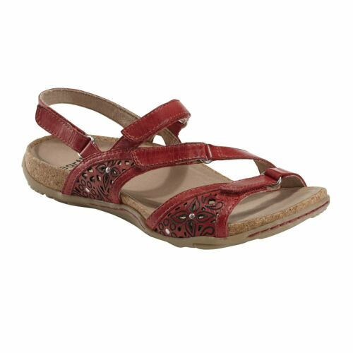 Bright Red Women/'s Earth Brand Shoes Maui Adjustable Comfort Sandal