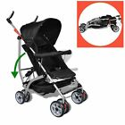 Black Baby Stroller Pram Kid Toddler Child Jogger Bassinet Wheel Seat 5 Position
