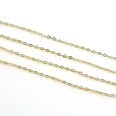 16 Inch 14k Gold Filled Long and Short Oval Chain Necklace