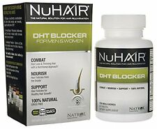 Nu Hair DHT Blocker Hair Regrowth Support Formula Tablets, 60Count Bottle, New