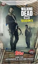 2016 Topps The Walking Dead Season 5 Trading Cards Factory Sealed Hobby Box