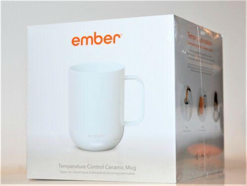 Temperature and App Controlled Ceramic Mug USB Heated Ember White 10 oz