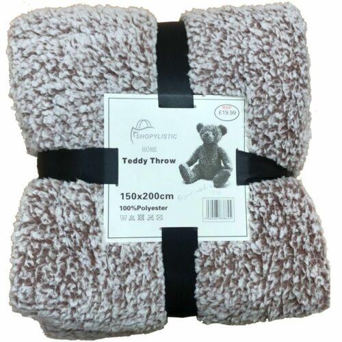 Soft Warm Fleece Cuddly Teddy Throw Sofa Single Double King Bed Blankets
