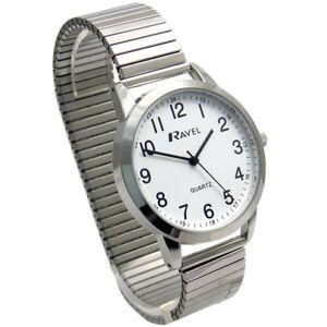 Ravel-Men-039-s-Super-Clear-Quartz-Watch-with-Expanding-Bracelet-sil-43-R0232-21-1