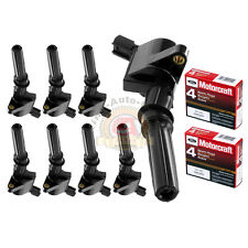 Set of 8 Motorcraft Spark Plugs SP493 & 8 Ignition Coils For Ford Lincoln DG508