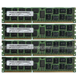 Micron-32GB-4x8GB-2Rx4-PC3-12800R-DDR3-1600Mhz-240Pin-ECC-REG-Server-Memory-RAM