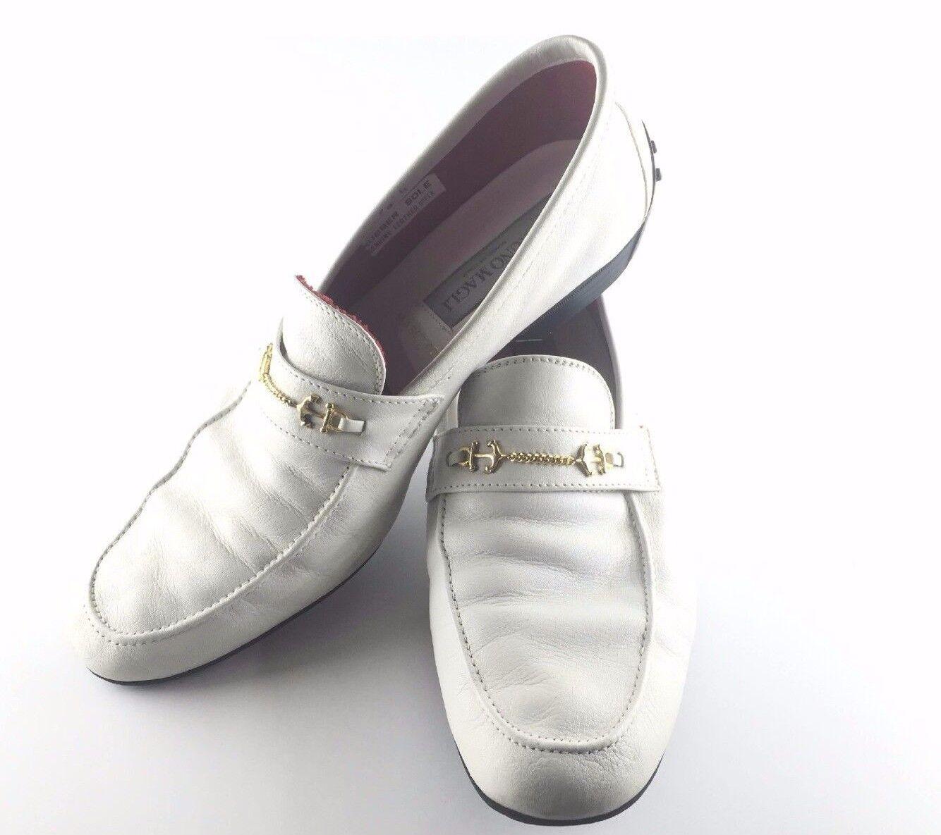 BRUNO MAGLI - PIRELLI - MASERATI Vintage White Leather Driving Shoes 9.5 *RARE*