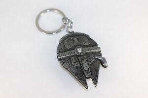 Star Wars Metal Keychain Millennium Falcon Darth Vader Yoda Keyrings Pendant