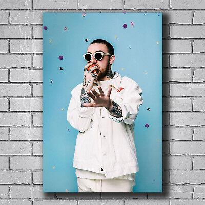 Silk Custom Poster Mac Miller Rapper Music Singer Hip Hop Star C-84
