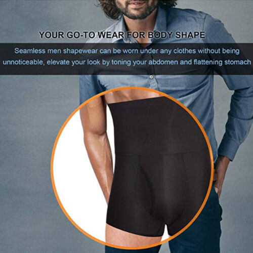 Men/'s Seamless Tummy Control Shorts Thigh Shaper High Waist Slimming Body Shaper