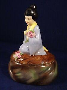 Prudent Ancienne Bonbonnière Boîte Porcelaine Chine Japon Asie Art Deco Années 20/30 Technologies SophistiquéEs