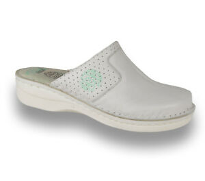 Ladies Sandals Mules Slippers Leather White Slip Women 360 New On Leon Uk Clogs zaqwZ5x