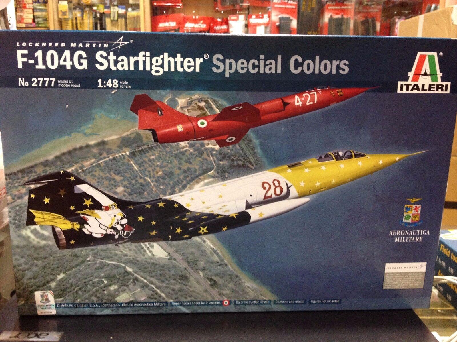 ci sono più marche di prodotti di alta qualità KIT KIT KIT MAQUETA F-104G estrellaFIGHTER specialeee ColoreeeeeeeeeS 1 48 ITALERI 2777  i nuovi marchi outlet online