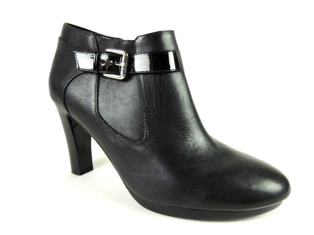 Lauren Ralph Lauren Maleah Mujer botas botas botas al tobillo negro cuero tamaño 9.5 M  mejor moda