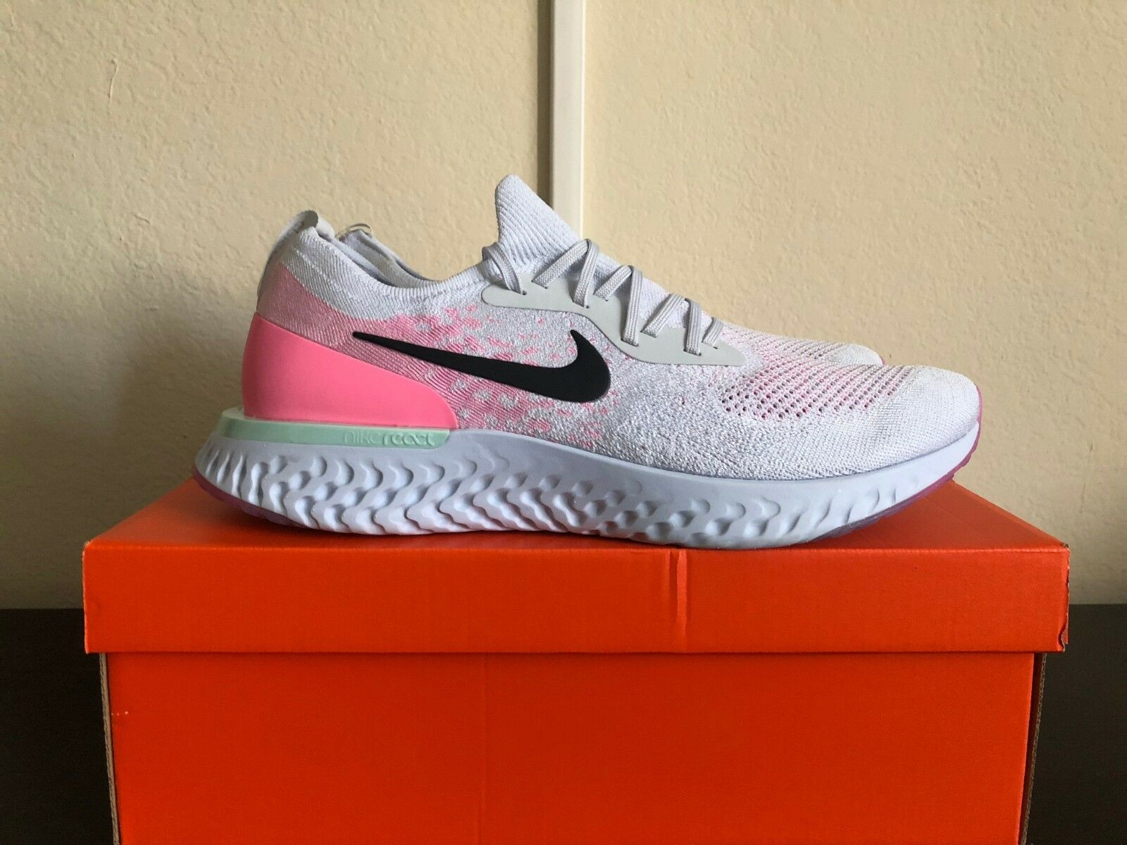 Authentic Nike Epic React Flyknit Pure Platinum Size 15
