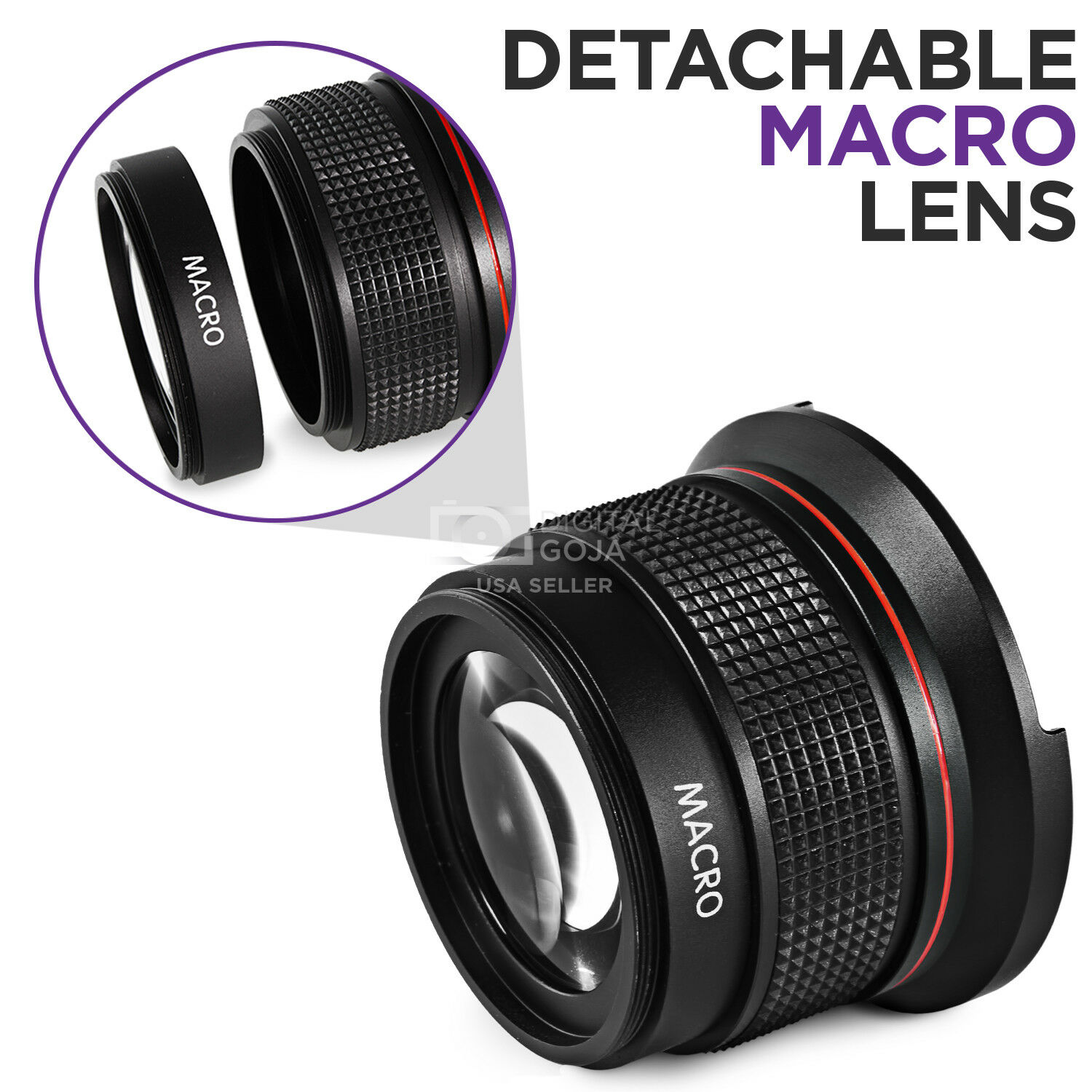 Altura Photo 58MM 0.35x Fisheye Wide Angle Lens with Macro for Canon T6i T5 T3i