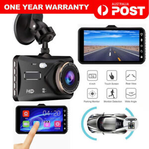 4.0'' Touch Camera Video FHD 1080p Dual Lens Car DVR Reversing Dash Cam Recorder