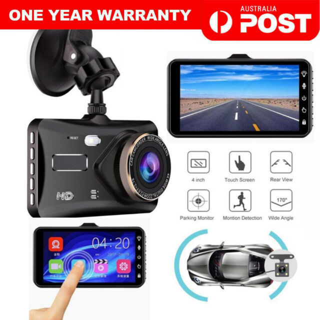 4.0'' Touch FHD 1080P Dual Lens Car DVR Reversing Camera Video Dash Cam Recorder
