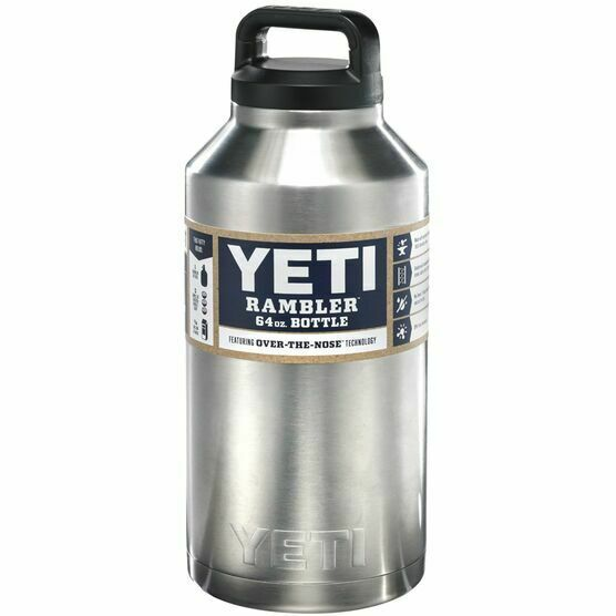 NEW! - YETI 64 oz Rambler Bottle Stainless Steel Thermos with Lid YRAMB64