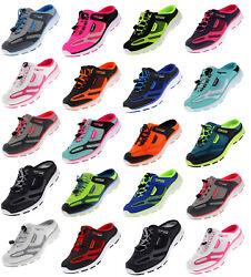 Damen Herren Sabots Sneaker Sandalette Pantoletten Slipper Freizeitschuhe 10572
