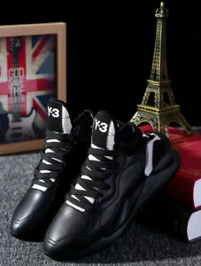 823fea1b2d19 NEW Y3 Black Kaiwa Yohji Yamamoto Sneakers Men s Qasa High Boost ...