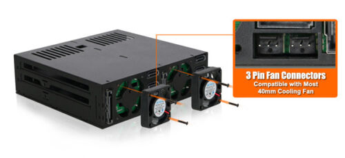 "New ICY Dock ExpressCage MB326SP-B 6 bay 2.5/"" SAS SATA HDD Hot Swap Mobile Rack"