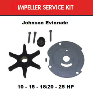 Details about Johnson Evinrude Water Pump Impeller Kit for 25 HP 18-3377  4-3377 382468