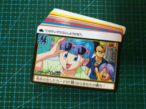 DRAGON BALL Z CARDDASS PART 38 FULL 36 piece REGULAR CARDS SET