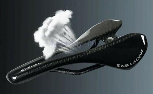 Full Carbon 3K Racing Hollow Seat Saddle Oval Rails XC Mountain road Bike Black