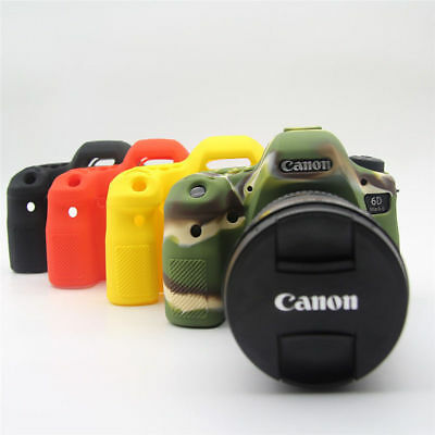 Color : Red Soft Silicone Protective Case for Canon EOS 6D Durable
