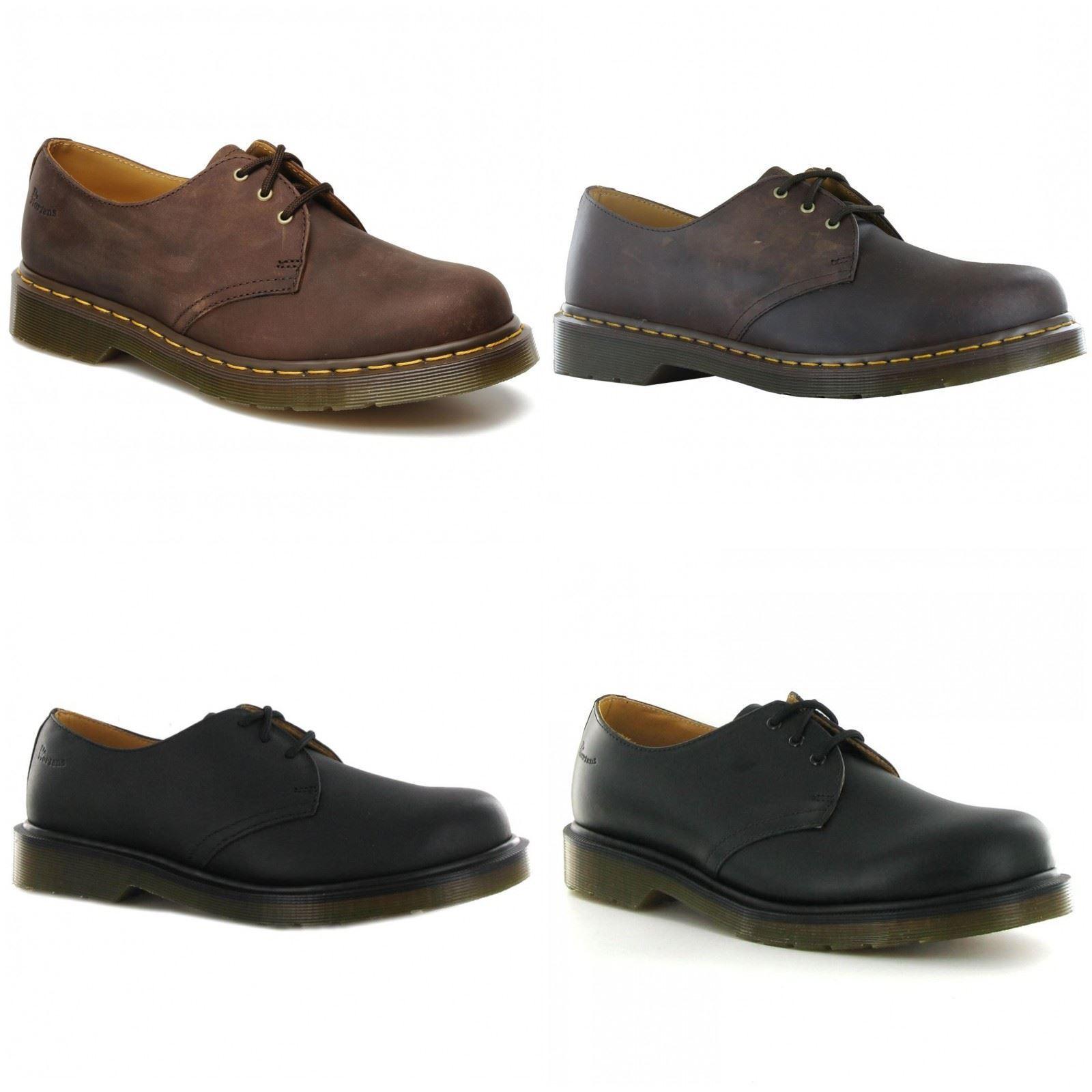 Dr.Martens 1461 Mens Crazy Horse Leather Unisex Mens 1461 Womens Ladies Shoes 2ad1f3