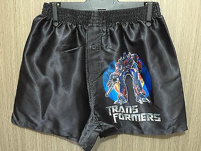 BNWT Boys Sz 10 Black Transformers Elastic Waist Silky Boxer Shorts PJ Pants