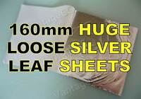 160mm SILVER LOOSE LEAF SHEETS in BOOKLETS, 160mm! Gilding Crafts Scrapbooking