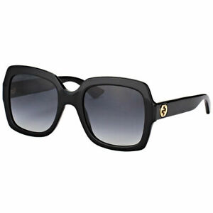 0537fb8771 Image is loading New-Authentic-Gucci-GG0036S-001-Black-Plastic-Sunglasses-