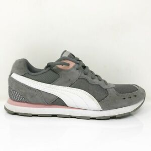 Puma-Womens-Vista-370231-09-Gray-Pink-Running-Shoes-Lace-Up-Low-Top-Size-8