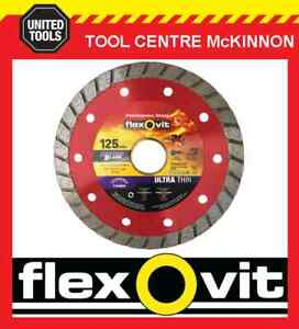 FLEXOVIT-5-125mm-ULTRA-THIN-TURBO-RIM-DIAMOND-BLADE-FOR-BRICK-amp-CONCRETE-ETC