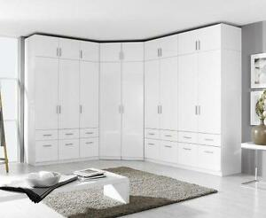 eckschrank schrank kleiderschrank aufsatz weiss hochglanz. Black Bedroom Furniture Sets. Home Design Ideas