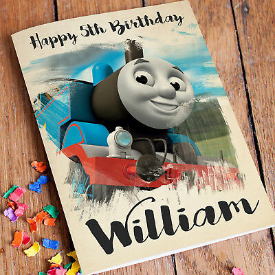 Outstanding Thomas And Friends Personalised Birthday Card Free Shipping Any Funny Birthday Cards Online Fluifree Goldxyz