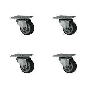 16 Stück 30 mm Möbelrollen Lenkrollen Transportrollen Laufrolle Kunststoffrad