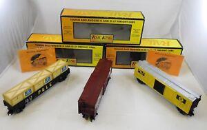 3-Rail-King-MTH-Trains-30-72026-30-7428-30-7146-Gondola-Box-Stock-Cars-w-Boxes