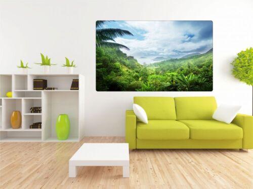 Jungle île Mer Caraïbes Mural Sticker Autocollant r0343
