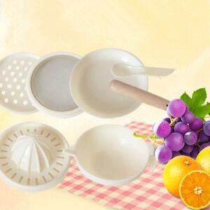 6 Pcs/Set Baby Food Grinder Bowl Masher Food Mills Supply For Fruit Vegetables