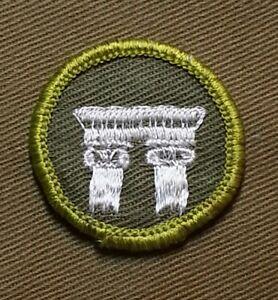 architecture bsa merit badge rolled 1961 khaki edge