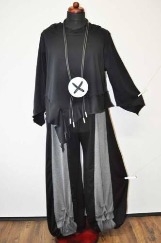 pantaloni A 44 xl Black 50 46 48 Arricciato L l Grigio Strati Look Palloncino d4cwqSttF