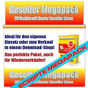 Scripte MEGAPACK 20 PHP SKRIPTE- Ideal für Webmaster - Master Reseller Lizenz