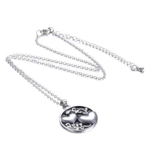 Fashion Double Love Heart Sister Tree Two-sided Pendant Necklace