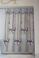 Allure Carousel Fabric Shower Curtain 70x71 Polyester Girls Bath