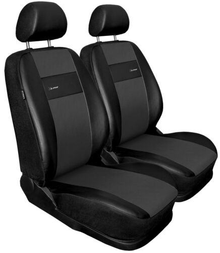 Front seat covers fit Volkswagen Tiguan black//grey  Leatherette