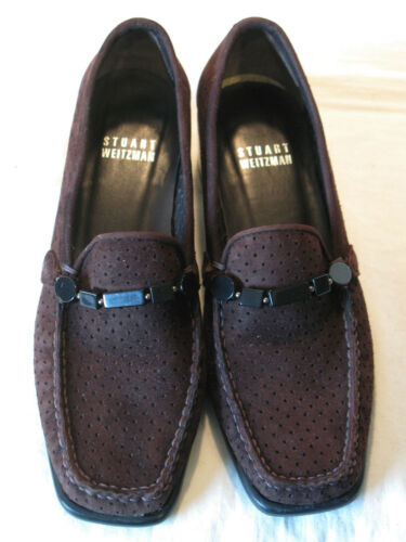 Femmes Chaussures Mocassins M Weitzman Cuir 5 Sz Brun Stuart Moc Suédé wcqfHSYYX