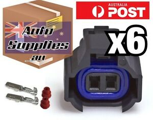 Set of 6 New Denso Fuel Injector Connector Kit with Terminals and Seals